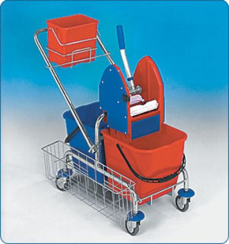 Úklidový vozík CLAROL 21001CL, 2x17l