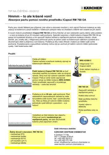 Absorbuje prach a voní iCaspol RM 762 OA